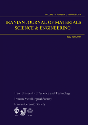 Iranian Journal of Materials Science and Engineering